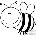 5594 royalty free clip art smiling bumble bee cartoon mascot character flying  gif, png, jpg, eps, svg, pdf