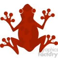 5640 royalty free clip art red frog silhouette logo  gif, png, jpg, eps, svg, pdf