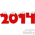 5661 royalty free clip art 2014 new year red numbers cartoon characters  gif, png, jpg, eps, svg, pdf
