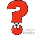 6263 royalty free clip art red question mark cartoon character thinking  gif, png, jpg, eps, svg, pdf