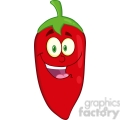 6769 Royalty Free Clip Art Smiling Red Chili Pepper Cartoon Mascot Character