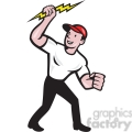electrician lightning bolt standing