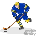 ice hockey player action strike