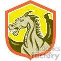 big dragon side yellow shield