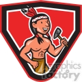native american indian tomahawk mascot