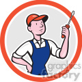 electrician screw driver front in circle shape  gif, png, jpg, eps, svg, pdf