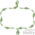 green floral frame swirls boutique design border 13