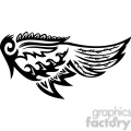 vinyl ready vector wing tattoo design 088