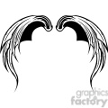 vinyl ready vector wing tattoo design 056
