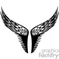 vinyl ready vector wing tattoo design 026