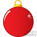 Royalty Free RF Clipart Illustration Red Christmas Ball