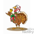 turkey holding a christmas present  gif, png, jpg, eps, svg, pdf
