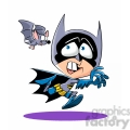 cartoon batman costume being chased by bat