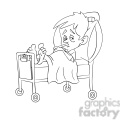 child sick in hospital bed black white