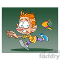 image of boy being chased by boomerang  gif, png, jpg, eps, svg, pdf