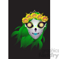 day of the dead 5 cartoon character illustration  gif, png, jpg, eps, svg, pdf