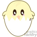 Easter Chick cartoon character illustration