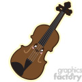 Violin cartoon character illustration