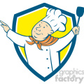 chef arm out hold spatula SHIELD