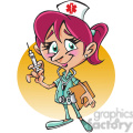 female nurse cartoon character