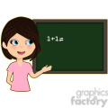 Teacher cartoon character vector image