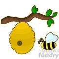 Beehive cartoon character vector image