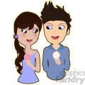 ice cream couple cartoon character vector image  gif, png, jpg, eps, svg, pdf