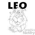 leo the lion horoscope black and white