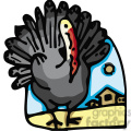 turkey displaying feathers outside a barn gif, png, jpg, eps, svg, pdf