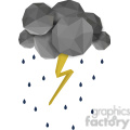 low poly lightning on white cartoon character vector clip art image geometric  gif, png, jpg, eps, svg, pdf