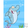 7326 royalty free rf clipart illustration happy shark cartoon character waving  gif, png, jpg, eps, svg, pdf