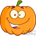 Royalty Free RF Clipart Illustration Funny Halloween Pumpkin Mascot Character