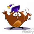 buho the cartoon owl graduating