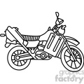 military armored motorcycle vehicle outline