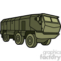 military armored mobile missle vehicle