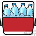 cooler full of ice cold water icon