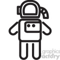 astronaut vector icon  gif, png, jpg, eps, svg, pdf
