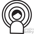 person with wireless signal vector icon  gif, png, jpg, svg, pdf