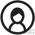 profile male vector icon