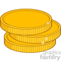 royalty free rf clipart illustration golden coins vector illustration isolated on white background  gif, png, jpg, eps, svg, pdf