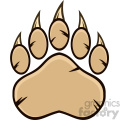 royalty free rf clipart illustration bear paw with claws vector illustration isolated on white background