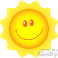 royalty free rf clipart illustration happy sun cartoon mascot character vector illustration isolated on white background gif, png, jpg, eps, svg, pdf