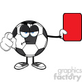 soccer ball cartoon mascot character referees pointing and showing red card vector illustration isolated on white background gif, png, jpg, eps, svg, pdf