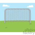 cartoon football gate vector illustration with background  gif, png, jpg, eps, svg, pdf