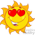 love sun cartoon mascot character vector illustration isolated on white background  gif, png, jpg, eps, svg, pdf