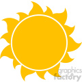 10258 yellow silhouette sun vector illustration isolated on white background