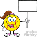 cute softball girl cartoon mascot character holding a blank sign vector illustration isolated on white background gif, png, jpg, eps, svg, pdf