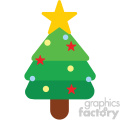 christmas tree icon vector art