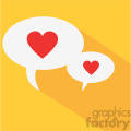 chatting hearts speak love flat design vector icon art