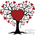 family tree of love svg cut files vector valentines die cuts clip art